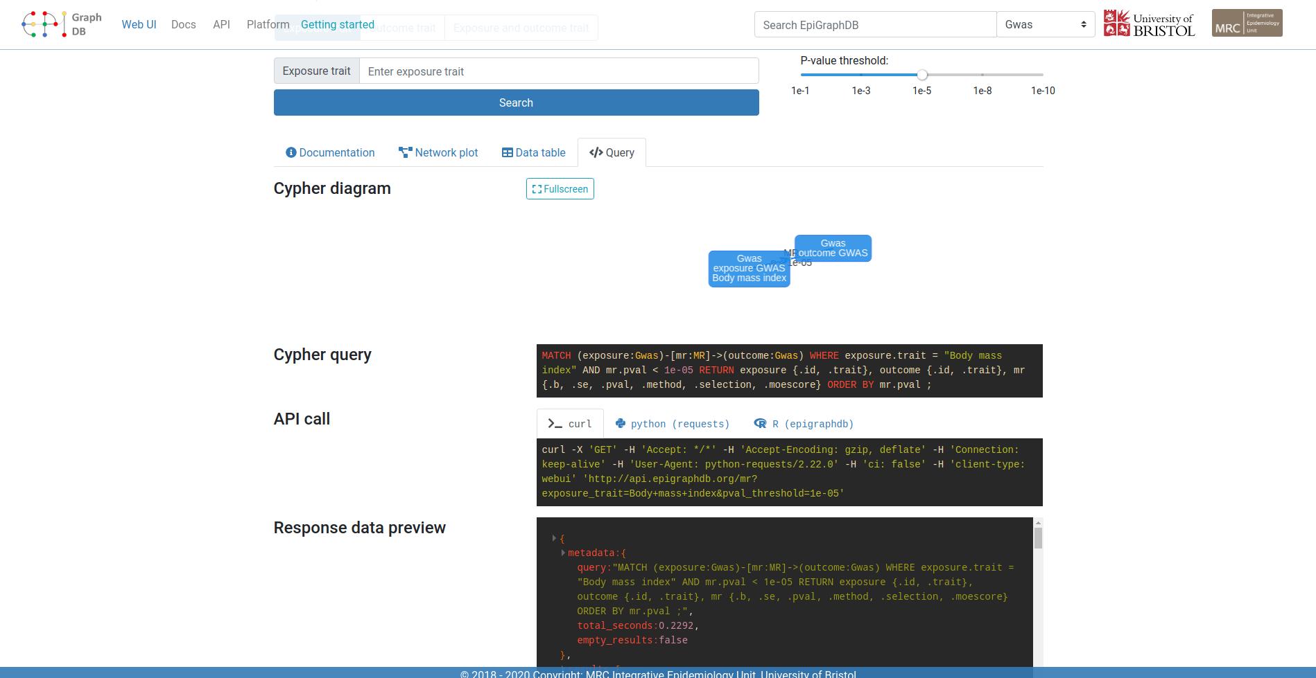 Using EpiGraphDB API - EpiGraphDB